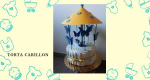 torta di pannolini carillon
